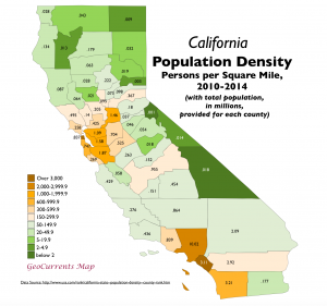 California Population Density Map 2