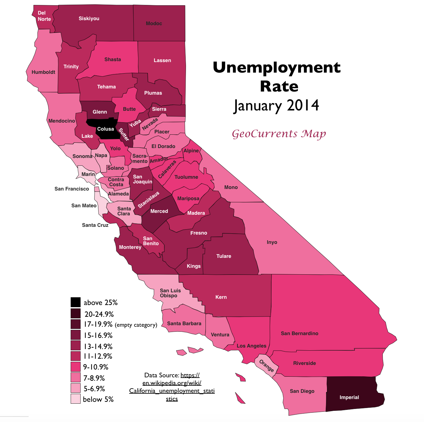 unemployment rate january 2014