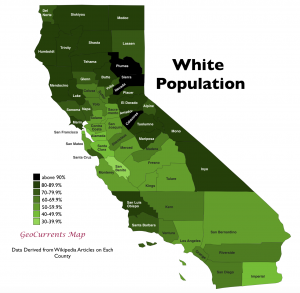 California White Population Map