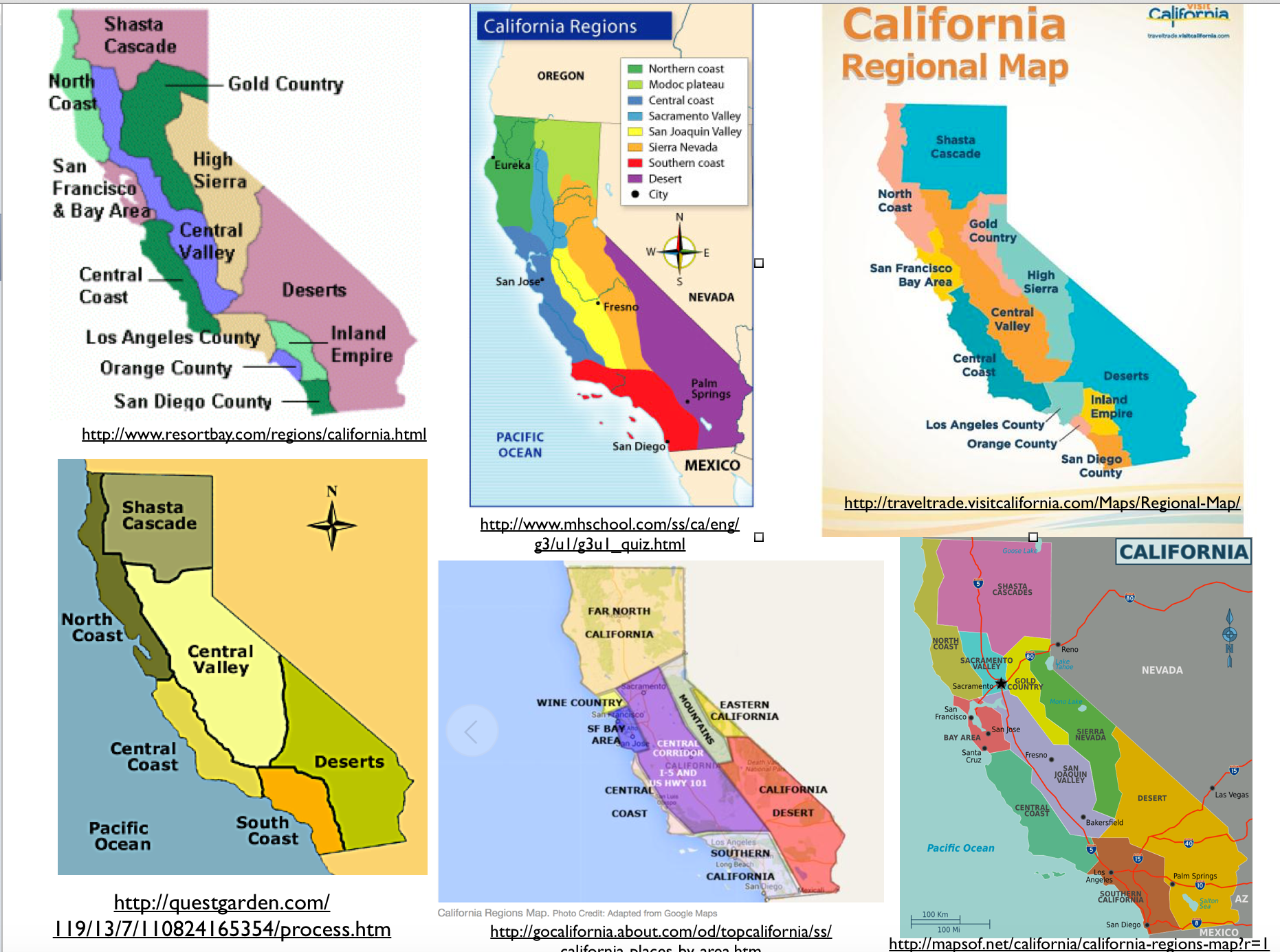 The Regionalization of California, Part 1 on