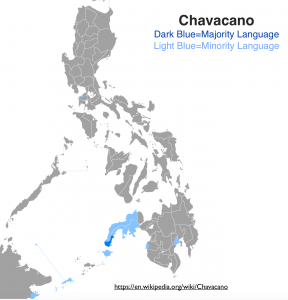 Chavacano Language Map
