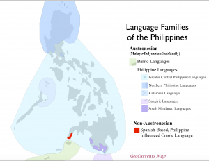 Language Families of the Philippines Map
