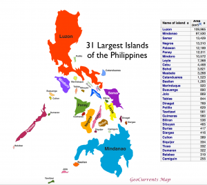 Largest Philippines Islands Map