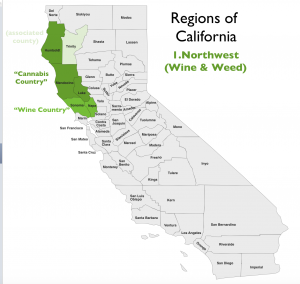 Northwest California Region Map