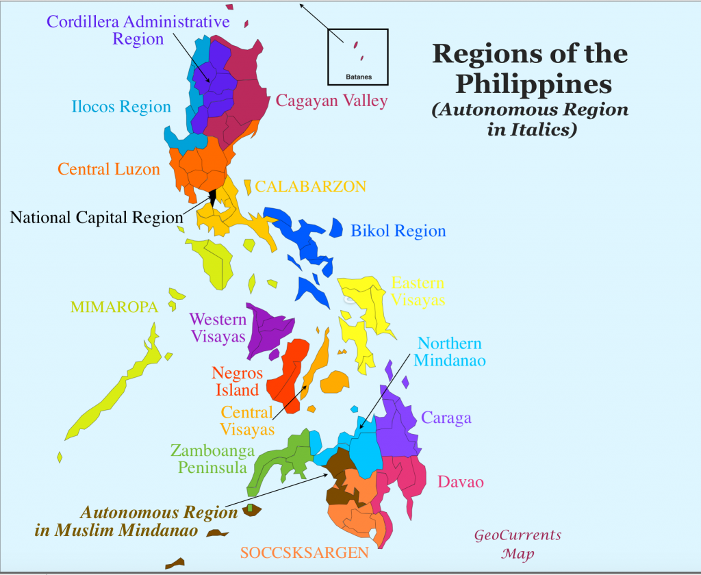 Philippine Regions - GeoCurrents