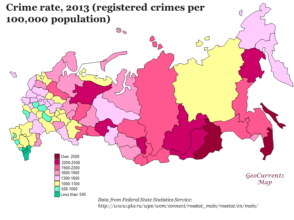 January Archives GeoCurrents - Us crime rate 2016 map