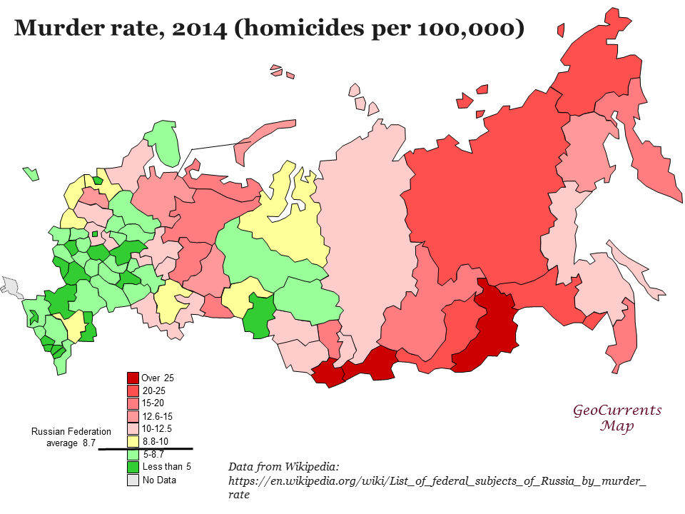 Mapping Crime And Substance Abuse In Russia