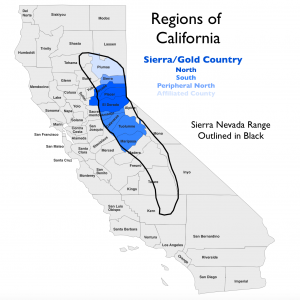 Sierra California Region Map 2