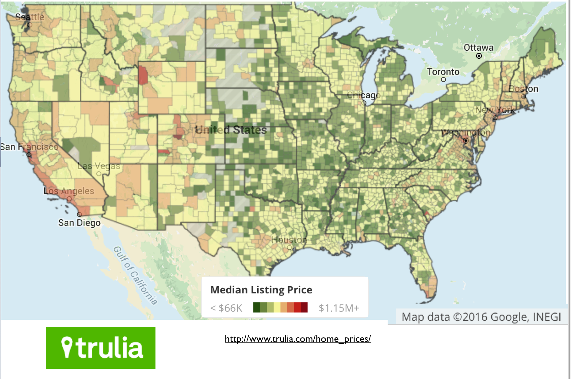 usa home price map. mapping the extraordinary cost of homes in california  geocurrents