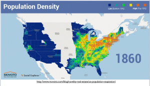 USA population density map