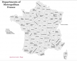 Departments of France Map