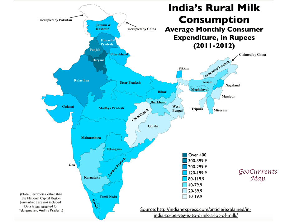 India milk in the northwest meat in the northeast geocurrents indiadairyconsumptionrural gumiabroncs Gallery