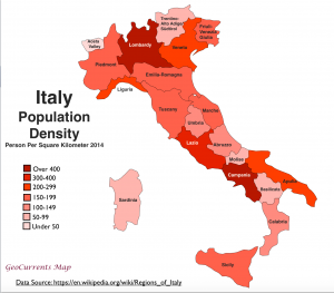 Italy Population Density Map