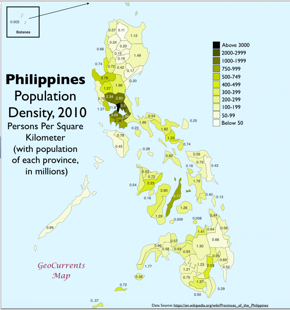 population history population density and cultural values in the philippines