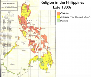Philippines Religion 1890 Map