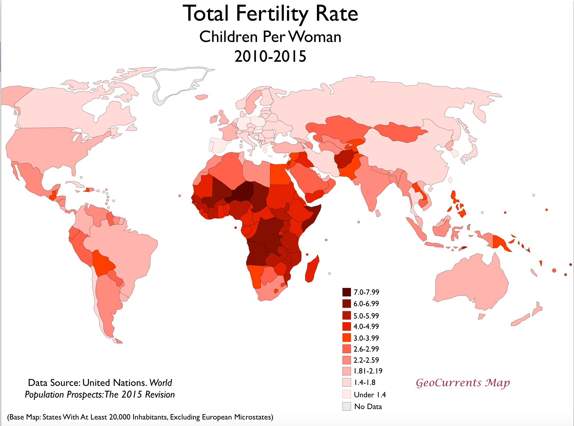 Total fertility rates by country 1950 and 2015 geocurrents tfr 2010 2015 world map gumiabroncs Image collections