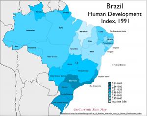 Brazil 1991 HDI Map