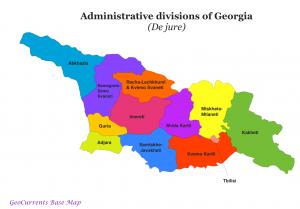 Divisions of Georgia (De Jure)