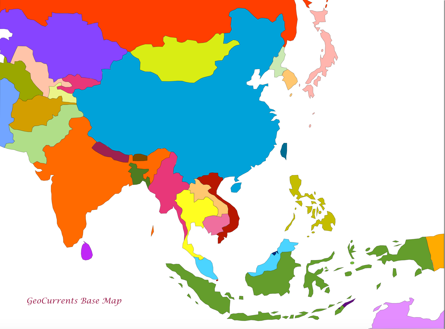 Customizable Maps of Europe Asia Etc – Aisia Map