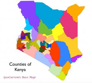 Kenya Counties Map