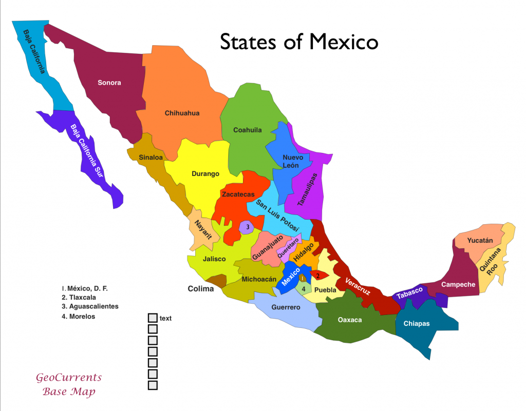 States Of Mexico GeoCurrents - Map of all the states
