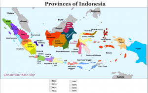 Provinces of Indonesia Map
