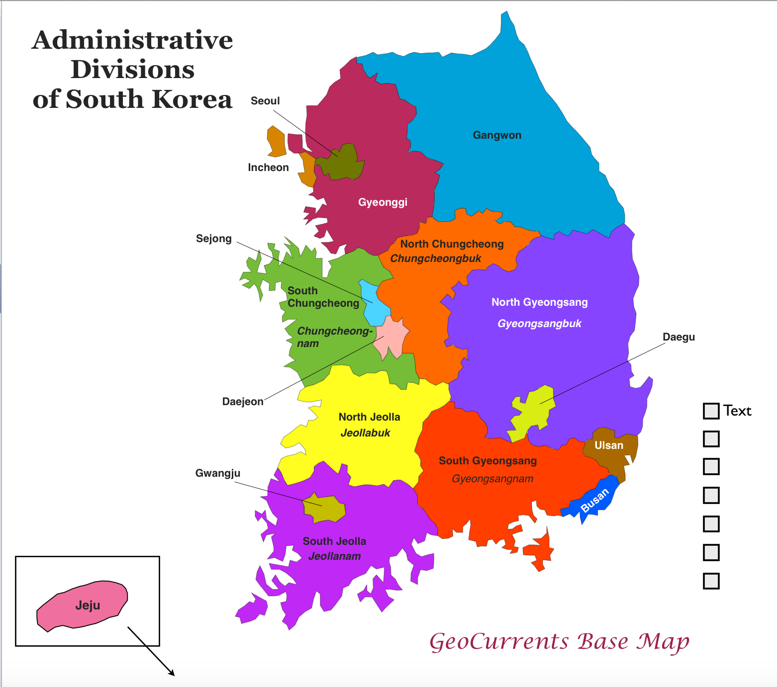 GeoCurrents Maps Of South Korea GeoCurrents - Map of south korea