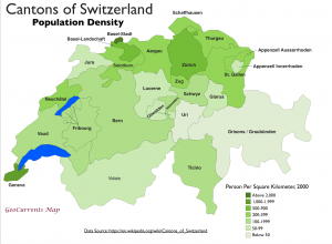 Switzerland Population Density Map