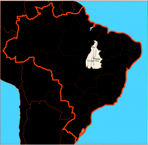 Tocantins in Brazil map