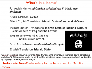 ISIS name