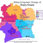 Map of Ethnic Groups in Ivory Coast