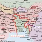 Map of the India-Bangladesh Border