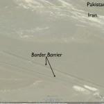Google Earth Image of Iran-Pakistan Barrier