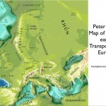 Bird's Map of Middle-earth Transposed on Europe