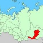 Map of Republic of Buryatia, Russia