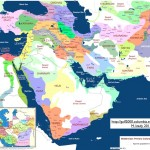 Middle East Cultural Historical Regions Map by M. Izady