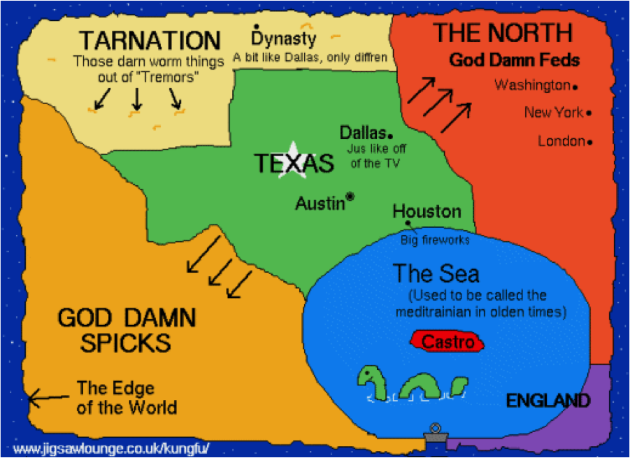 Map Of The Us According To Texas The World According to Canada and Texas | GeoCurrents
