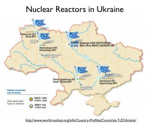 Nuclear Reactors Ukraine map
