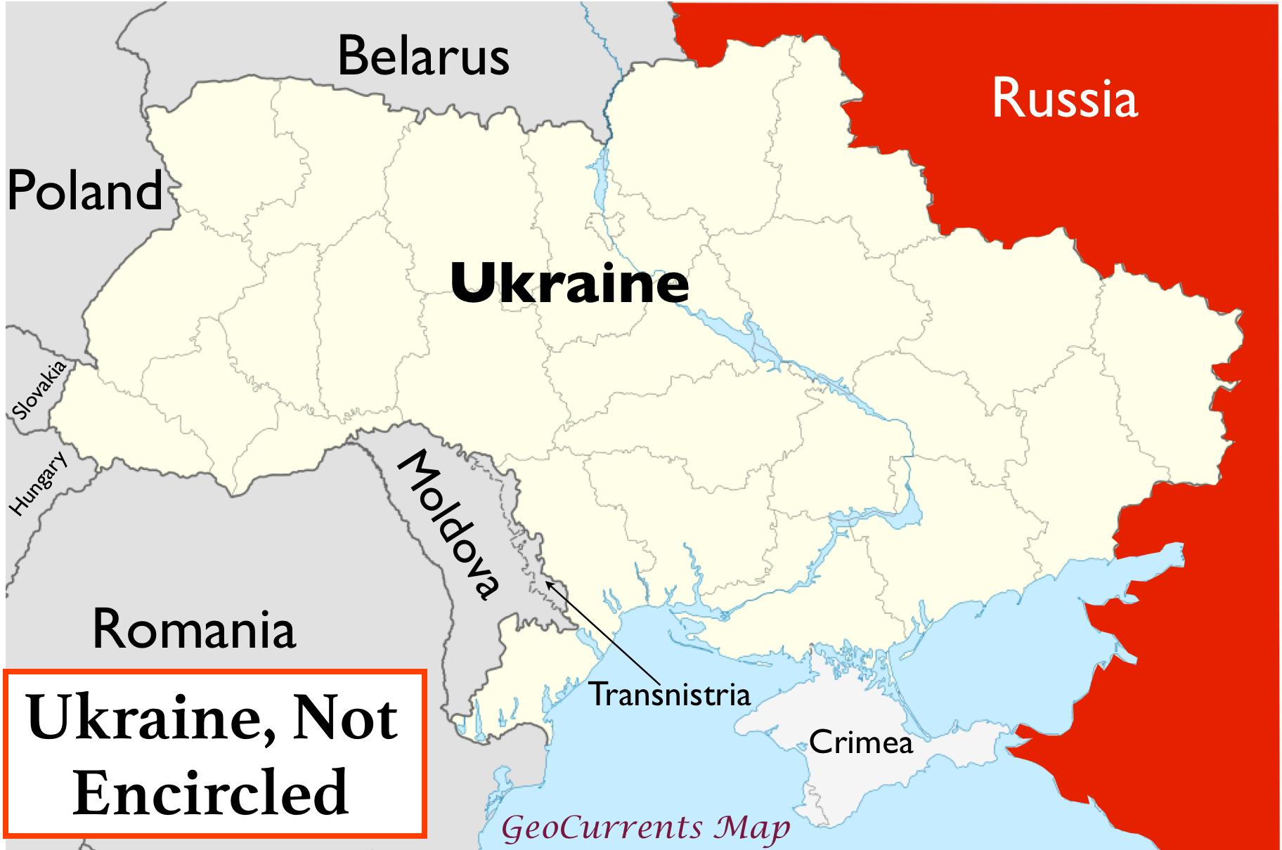 Map Of Ukraine And Russia Russian Envelopment? Ukraine's Geopolitical Complexities