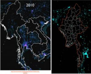Burma Nightime Lights