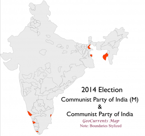 India 2014 Community Parties Election Map