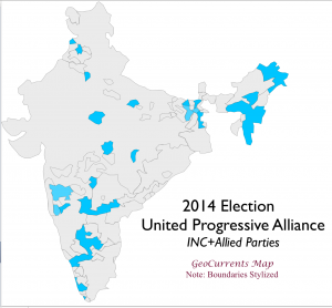 India 2014 Election UPA Map