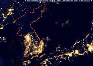 Korea light map