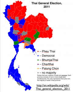 Thailand 2011 Election Map