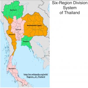 Thailand Regions Map