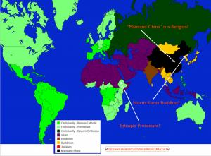 World Religion Map 6