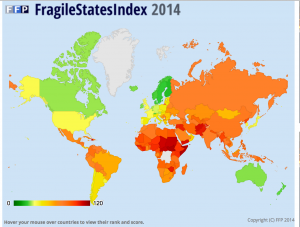 Fragile States Index 2014 Map