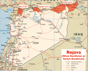 Syrian Kurdistan Map