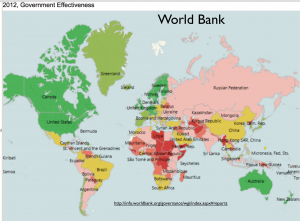 World Bank Government Effectiveness Map
