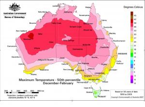 Australia Maximum Temperatures Map